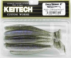 "KEITECH 4"" Easy Shiner - Gummifisch Swimbait 440T Electric Shad"