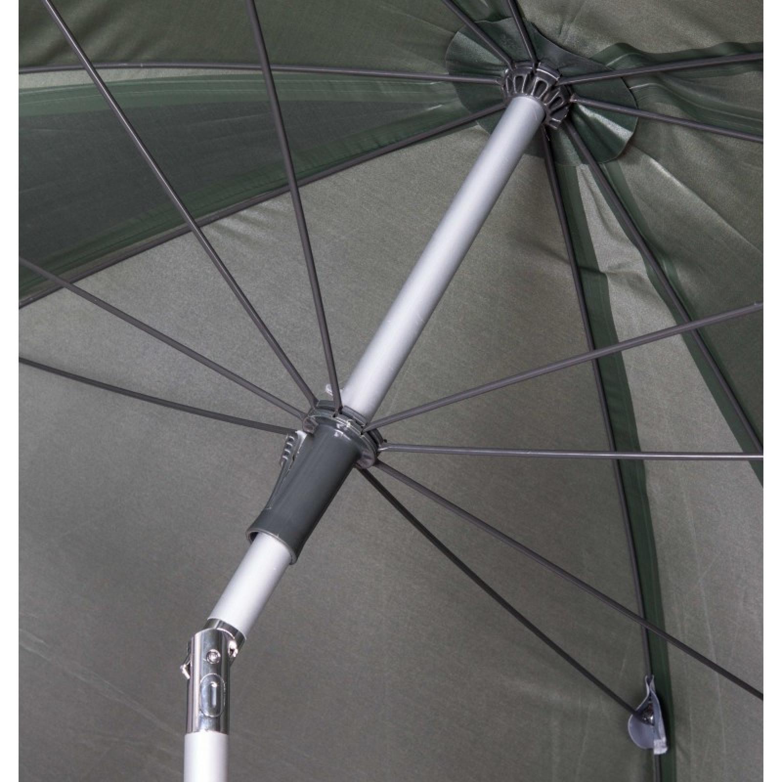 Quadratischer Angelschirm Bogenmaß 2,50m Durchmesser 2m grün Schirm Angelschirm