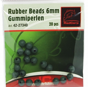 Gummiperlen 6mm Rubber Beads 20 ...